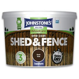 Johnstone's Shed & Fence Paint 9 Litre - Dark Oak