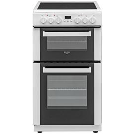 Bush DHBETC50W 50cm Twin Cavity Electric Cooker - White Best Price, Cheapest Prices