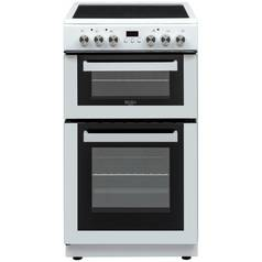 Bush DHBFEDC50W 50cm Double Oven Electric Cooker - White
