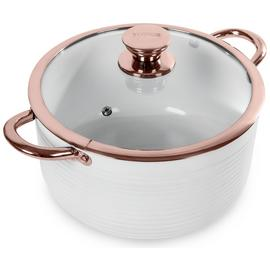 Tower Linear 24cm Casserole Dish - Rose Gold