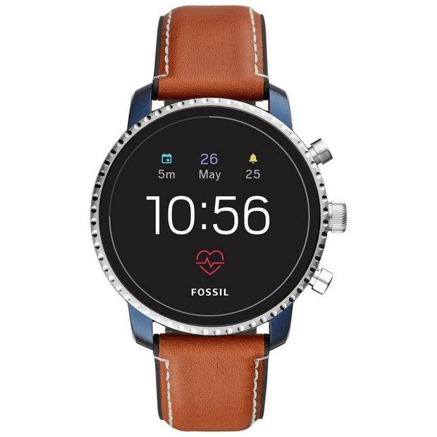 dc1ebacba Buy Fossil Explorist Gen 4 HR Smart Watch - Brown Leather