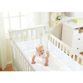 BreathableBaby 4 Sided Twinkle Twinkle Blue Cot Liner