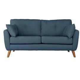 Argos Home Kari 3 Seater Fabric Sofa - Blue