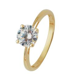 Revere 9ct Yellow Gold 1ct Look CZ Solitaire Ring