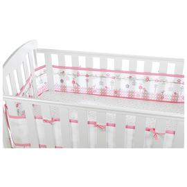 BreathableBaby 4 Sided Cot Liner - Enchanted Garden