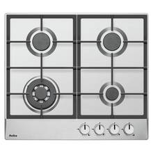 Amica PGZ6412 Cast Iron Gas Hob - Stainless Steel