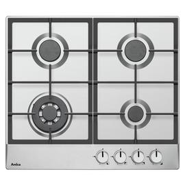 Amica PGZ6412 Cast Iron Support Gas Hob - Stainless Steel