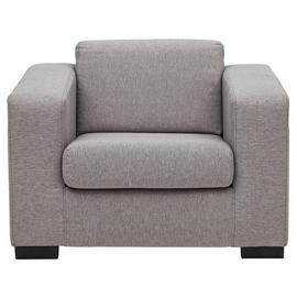 Argos Home Ava Fabric Armchair - Light Grey
