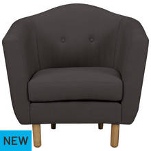 Argos Home Elin Fabric Chair - Charcoal