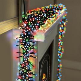 Premier Decorations 2000 LED Clusters with Timer - Multi