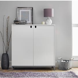 Argos Home Francis Large Shoe Storage Cabinet - White
