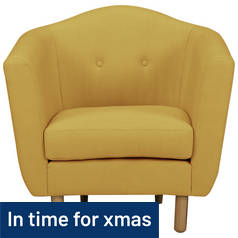Argos Home Elin Fabric Chair - Yellow