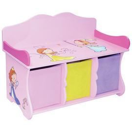 Liberty House Princess Storage Bench & Fabric Bins