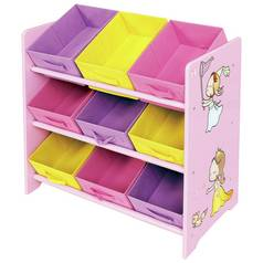 Liberty House Princess Toy Storage Unit with Fabric Bins
