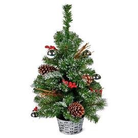Premier Decorations 60cm Dressed Christmas Tree - Silver