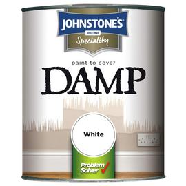 Johnstone's Damp Matt Paint 750ml - White