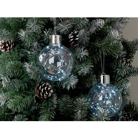 Argos Home 2 Pack Wire Light Filled Baubles - Silver