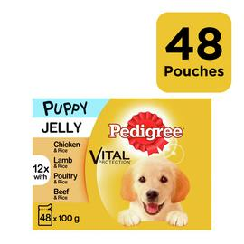Pedigree Wet Puppy Dog Food Mixed in Jelly 48 Pouches