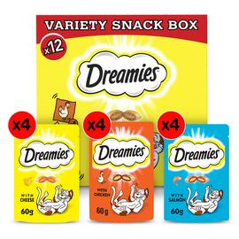 Dreamies Cat Treats Variety Snack Box 12 packs