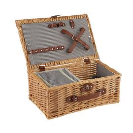 Argos Home Two Person Picnic Hamper Basket with Cooler