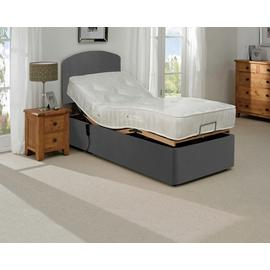 MiBed Berrington Adjustable Single Bed Frame with Guard