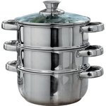 more details on HOME 18cm Stainless Steel 3 Tier Steamer.