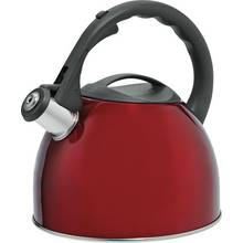 HOME 2 Litre Translucent Stove Top Kettle - Red