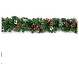 Premier Decorations 1.8 Metre Dressed Garland - Silver