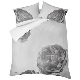 Karl Lagerfeld Pixel Rose Grey Bedding Set - Double