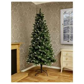 Premier Decorations 7ft Fir Glitter Christmas Tree - Green