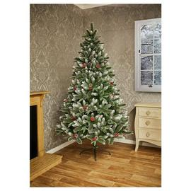 Premier Decorations 7ft Jersey Spruce Christmas Tree - Green
