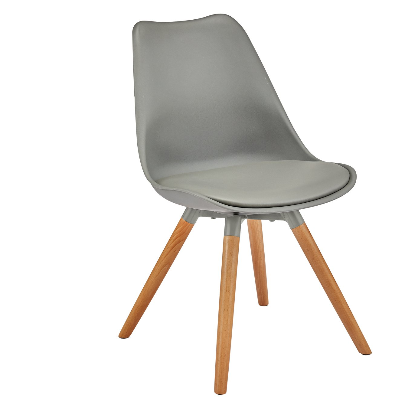 Argos Home New Charlie Chair - Grey  sc 1 st  Argos & Dining Chairs | Fabric Wooden u0026 Metal Dining Chairs | Argos