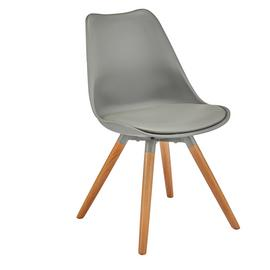 Argos Home Charlie Faux Leather Dining Chair - Grey