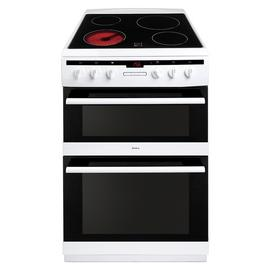 Amica AFC6550WH 60cm Double Oven Electric Cooker - White Best Price, Cheapest Prices