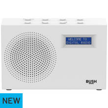 Bush Rechargeable Compact DAB/FM Radio – White