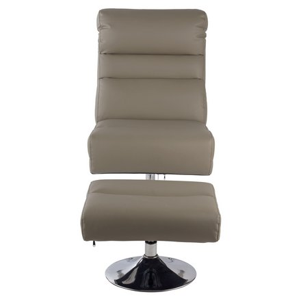 Buy Argos Home Costa Faux Leather Swivel Chair & Footstool Grey | Armchairs and chairs | Argos