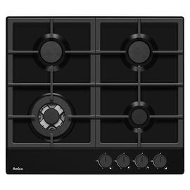 Amica PGZ6412B Cast Iron Support Gas Hob - Black