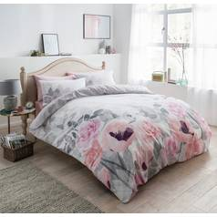 Argos Home Faded Flowers Bedding Set - Double
