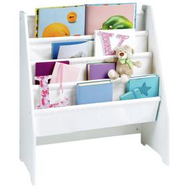 Liberty House White Book Display Unit with Canvas Pockets
