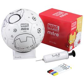 Mitre Marvel Iron Man Scriball Colouring Size 3 Football