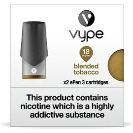 Vype ePen 3 Cartridges 6 pack – Blended Tobacco 18mg