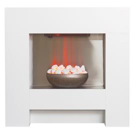 Adam Cubist 2kW Electic Fire Suite - White
