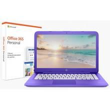 HP Stream 14 Inch Celeron 4GB 32GB Cloudbook - Purple