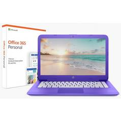 HP Stream 14 Inch Celeron 4GB 32GB Laptop - Purple