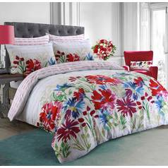 Argos Home Bright Garden Flowers Bedding Set - Superking