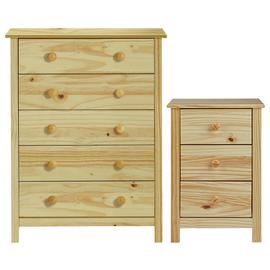 Argos Home Scandinavia Bedside Table & 5 Drawer Chest Set
