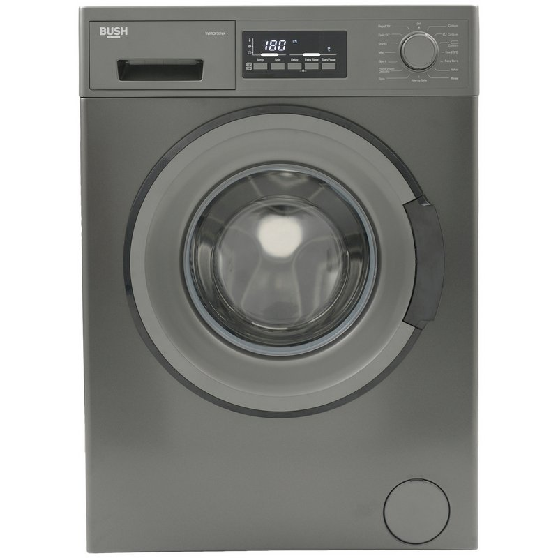Bush WMDFXINX 8KG 1400 Spin Washing Machine - Dark Inox
