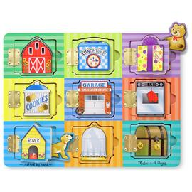 Melissa & Doug Hide n Seek Wooden Activity Board