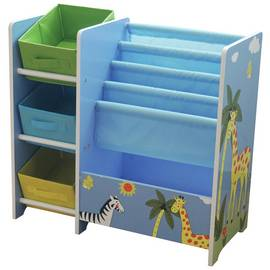 Liberty House Safari Book Display Unit with Storage