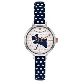 Radley Ladies RY2733S Rose Gold Plated Polka Dot Strap Watch